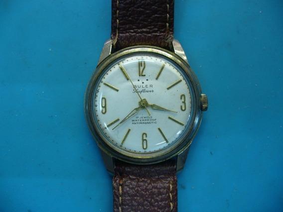 Reloj Buler Leaflower Caballero De Cuerda Vintage