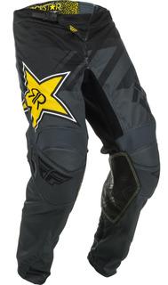 Pantalon Moto Fly Racing Kinetic Rockstar S Gr/neg Talla 28