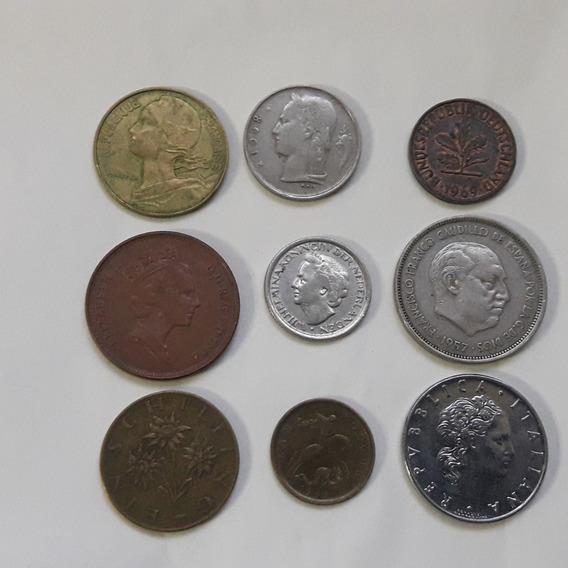 * Lote De 9 Monedas De Europa. Sin Repetir