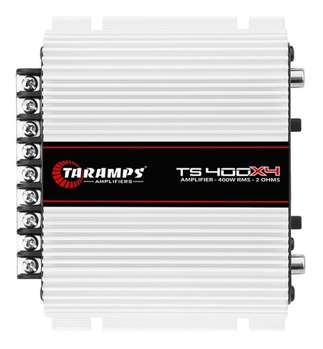 Imagem 1 de 5 de Taramps Ts400 X4 Amplificador Digital 400w Rms Mono Estereo