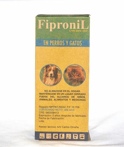 Fipronil Spray 300 Cm3 - Contra Garrapatas Y Pulgas