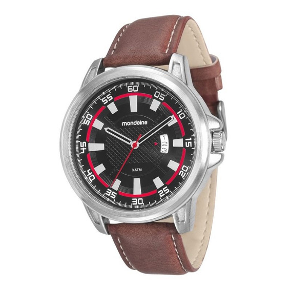 Relógio Mondaine Masculino Adulto Feixo Couro Pu 76605