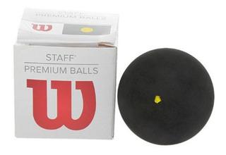Paq Pelota Squash Staff Punto Amarillo Accesorio Wilson