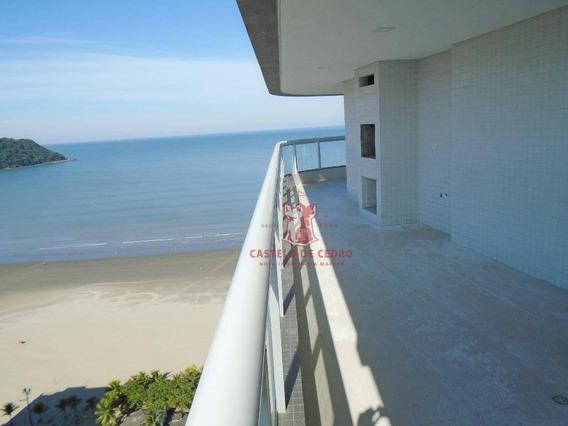 Apartamento Com 4 Dormitórios À Venda, 213 M² Por R$ 1.690,00 - Canto Do Forte - Praia Grande/sp - Ap0308