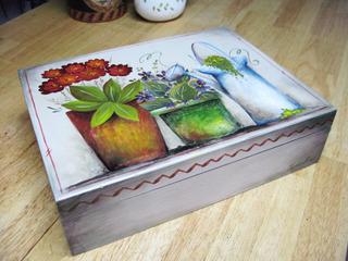 Caja De Madera, Adorno, Caja De Té, Macetas Flores