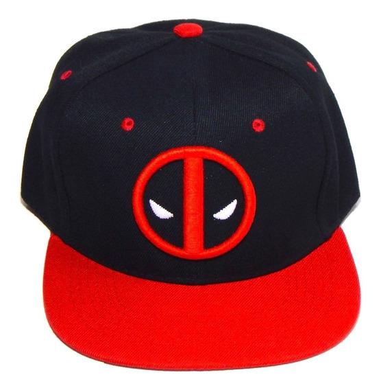 Gorra Deadpool Marvel Bordado 3d Dead Pool Mask Black&red