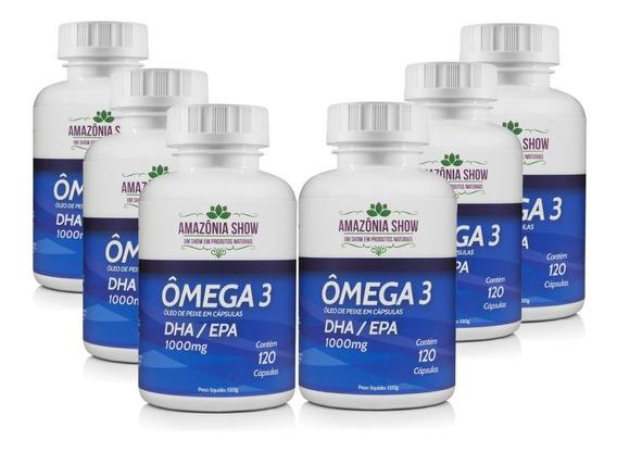 Omega 3 120 Capsulas 1000mg Combo Com 6 Frascos