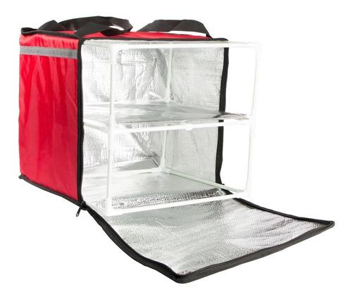 Mochila Termica Para Delivery Roja 35 X 38 X 40 Cm Forte