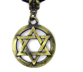 Colar Estrela De Davi Hexagrama Ouro Velho