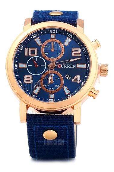 Relógio Masculino Curren Original 8199 Novo Frete Grátis