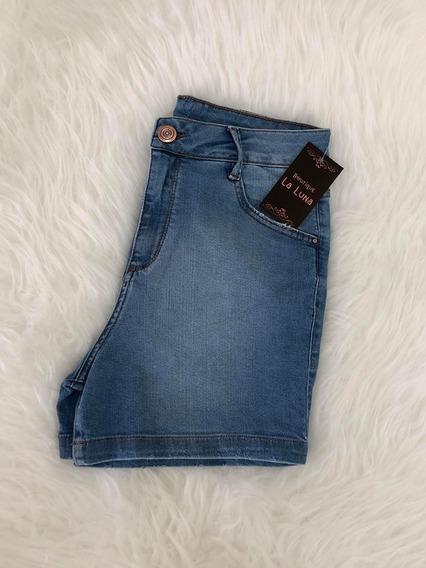 Shorts Jeans Claro Curto Feminino Lycra Hot Pants Verão 2020