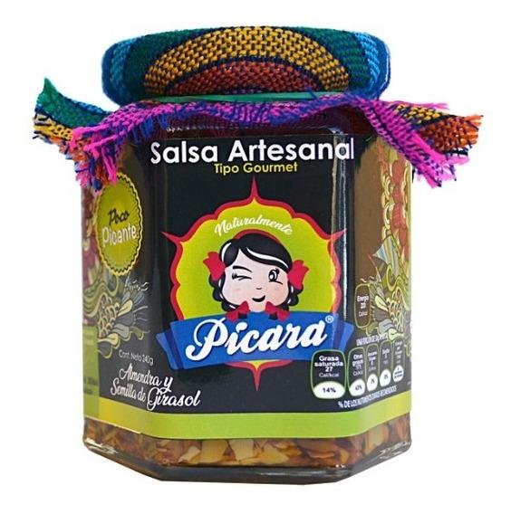 Salsa Artesanal Gourmet Almendra Y Sem. Girasol Poco Picante