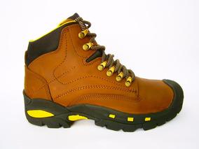 Zapato Botin De Trabajo Y Trekking Cuero Legitimo 100% Cuero