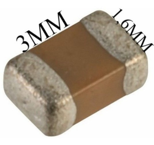 1uf 50v ( Kit C/ 100 ) Capacitor Smd 1206 Envio Imediato