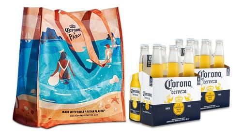 Cerveza Corona 355 Ml X12 + Bolsa Corona Reutilizable