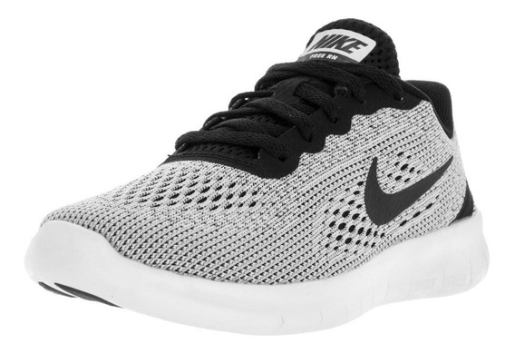 Tenis Nike Free Rn Gs Gris Con Negro 24 Cm