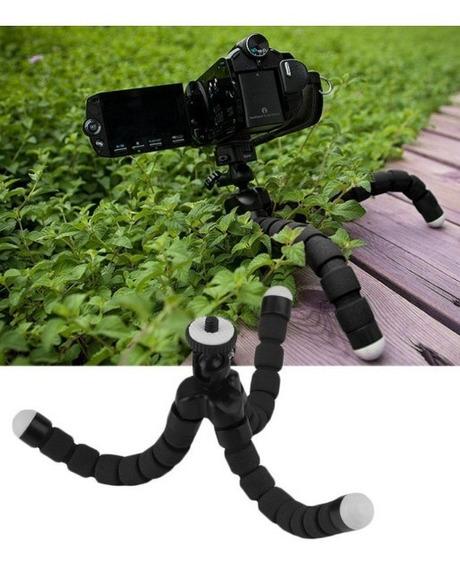 Suporte Mini Tripé Flexível E Ajustável Para Câmeras Preto
