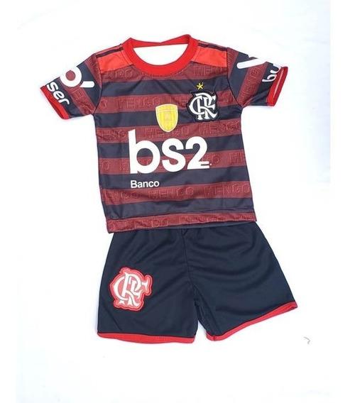 Conjunto Uniforme Infantil Criança Flamengo Gabigol