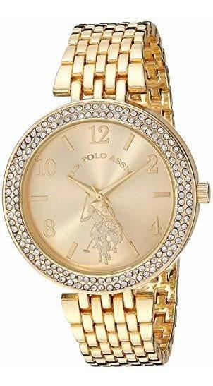 Polo Assn. Reloj De Cuarzo Para Mujer De Acero Inoxidable Co