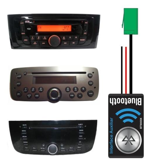 Interface Bluetooth Auxiliar Para Cd Original Fiat + Chaves