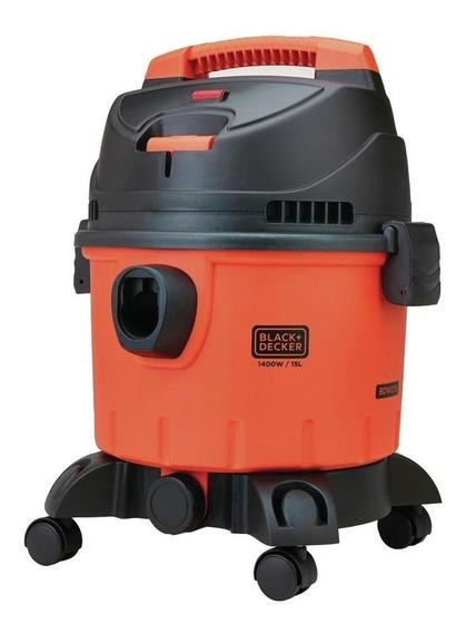 Aspiradora Black+Decker BDWD15 15L naranja y negra 220V