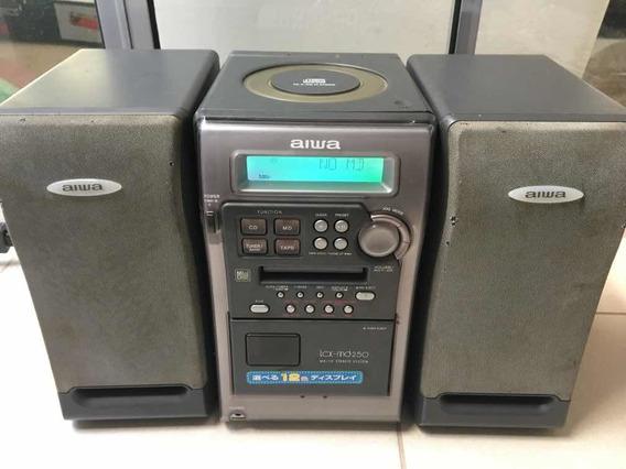 Microsystem Aiwa Modelo Cx-lmd 250 Japan Cd - Md Som