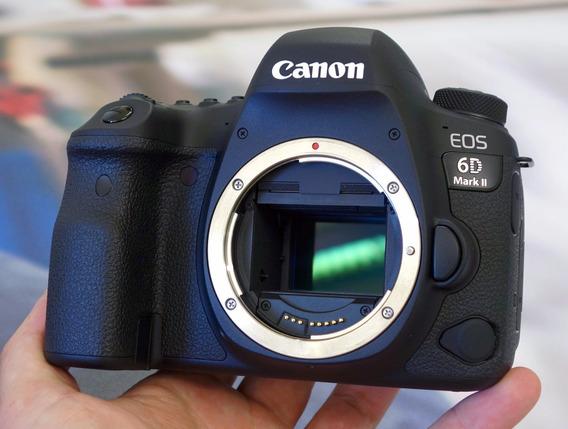 Câmera Nova Canon Eos 6d Mark Ii Mark 2 Corpo E Acess + Nf-e