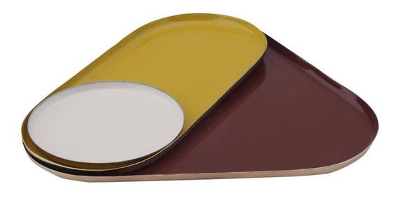 Platonic Triangle Porta-joias C/3 Cobre/multicor
