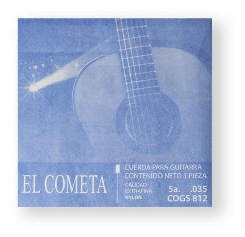 Imagen 1 de 1 de El Cometa Cuerda 812(12) Para Guitarra Clásica, 5a, Cobre