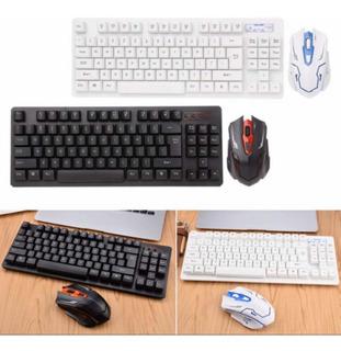 Mouse Y Teclado Gamer Profesional Inalámbricos Bluetooth