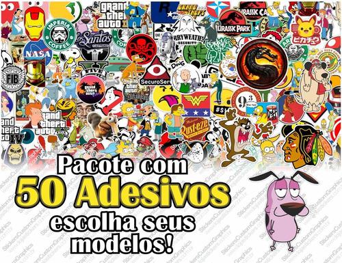 Adesivos Geek, Nerd E Personagens (50uni.)