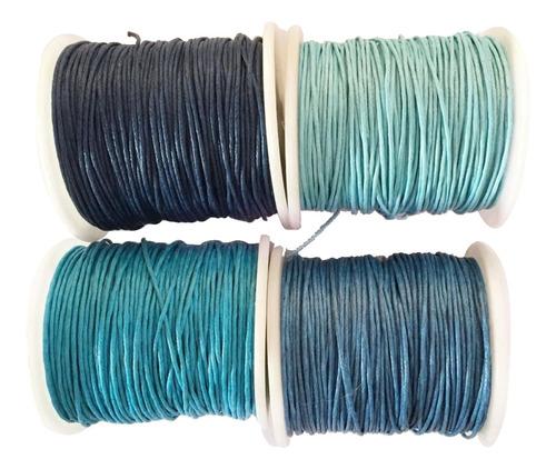 Imagen 1 de 9 de 4 Rolls 80 Meters 1mm Waxed Cotton Cords Thread For Diy Brac