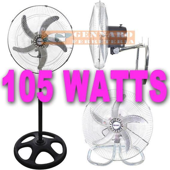 Ventilador 105 W De Pie Turbo Y Pared Industrial 3en1 Acero
