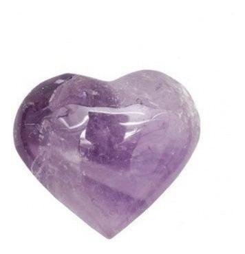 Coração De Ametista Lapidado Lindo Presente