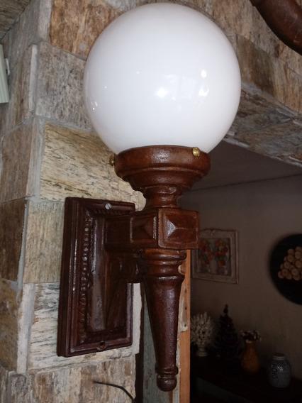 Linda Arandela Ferro Fundido Luminária Parede Cúpula Antigo