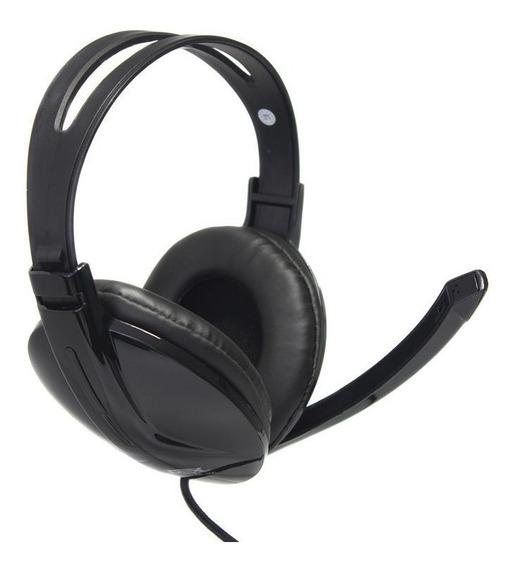Fone De Ouvido Headset P2 Preto Com Microfone Dex Df-300