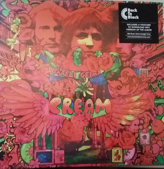 Cream Disraeli Gears 180g Lacrado + Download Eric Clapton