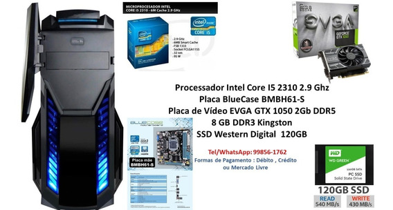 Pc Gamer Intel Core I5 8gb Ssd 120gb Gtx 1050 2gb