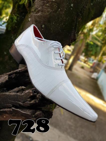 Sapatos Social Masculino Calçados De Couro Envernizados+fret