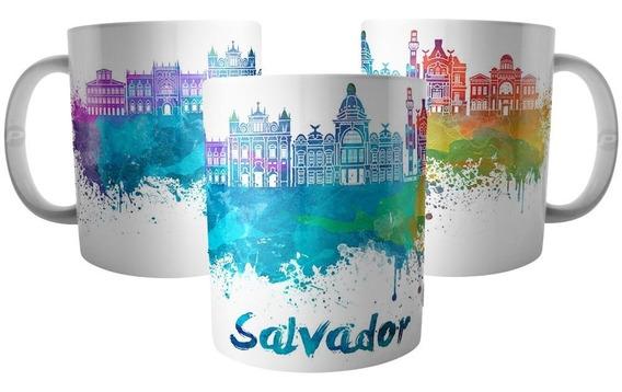 Caneca Da Cidade De Salvador Bahia - Lembrança Do Brasil