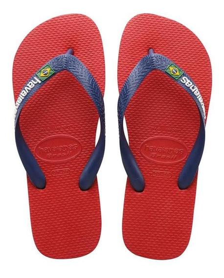 Ojotas Havaianas X 12 Pares!! Modelo Brasil Logo Vermelho