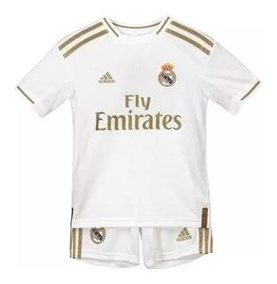Camisa Ou Kit Infantil Do Real Madrid Com Frete E Personalização Grátis Todo Brasil - Leia O Anuncio Antes De Comprar