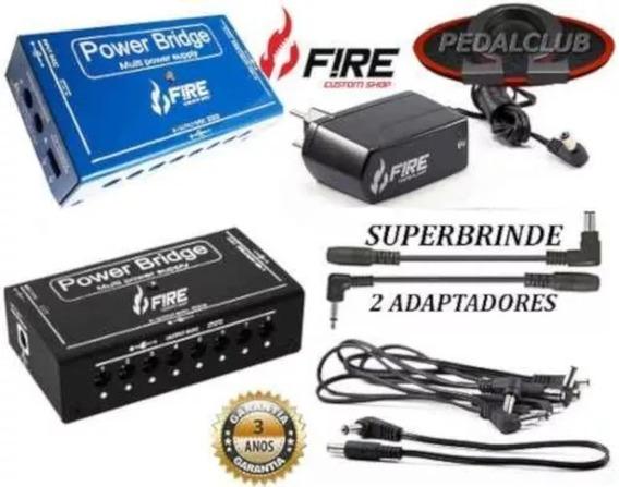 Cabo Fonte Fire Pedal Guitarra 10 Pedais Power Bridge 9v