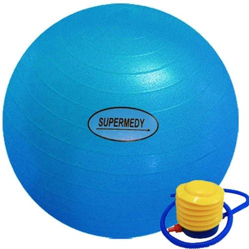 Bola Ginástica 65 Cm Azul Supermedy Yoga Fitness Pilates