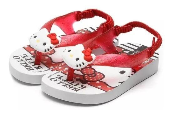 Chinelo Hello Kitty Baby Com Nota Fiscal Jocam