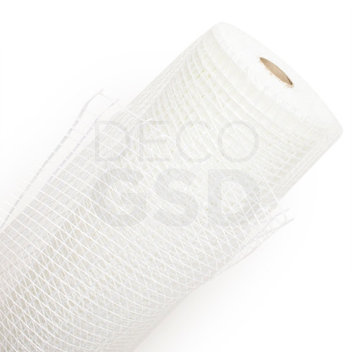 Piso Malla Revoque Polcom Fibra Vidrio 10x10 Rollo 50m 110g