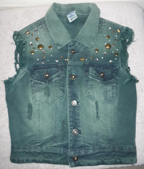 Colete Jeans Feminino Sawary Pedrarias