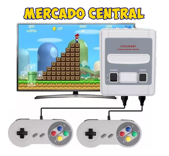 Video Game Sfc Mini 620 Jogos Na Memoria 2 Controles 8 Bits.