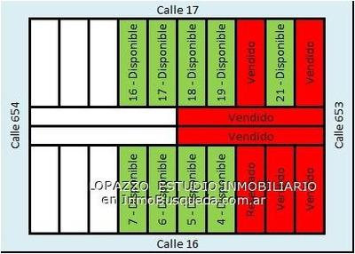 Lotes En Venta - En 17 E/ 653 Y 654