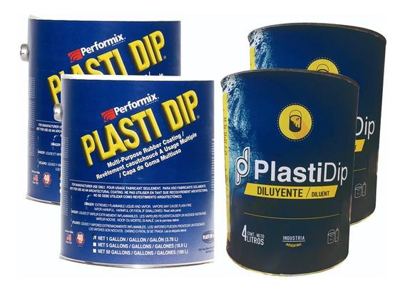 Kit Pintura Removible Plasti Dip Auto Mediano 16 Lts Blanco